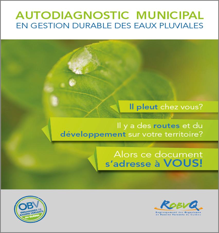 Autodiagnostic municipal et guide d'accompagnement en gestion durable des eaux pluviales (2016-17)