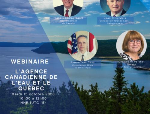 Webinaire – Agence canadienne de l'eau (2020)
