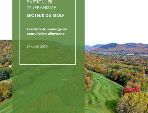 Sondage et ateliers participatifs pour l'élaboration du projet de PPU pour le redéveloppement d'un golf (2020)